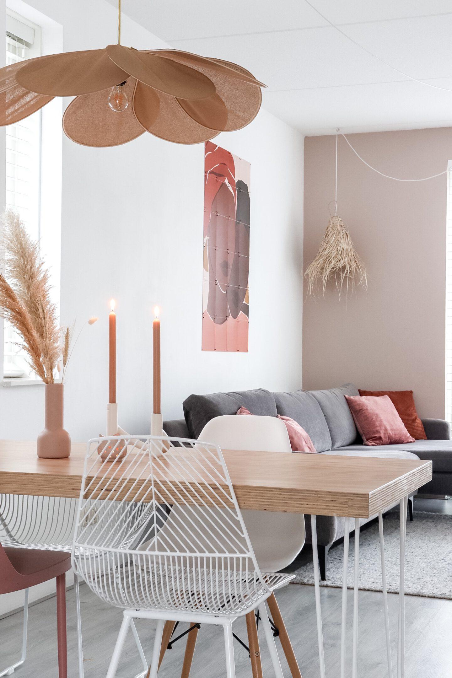 Georges Store Blade hanglamp in de kleur nude ombre